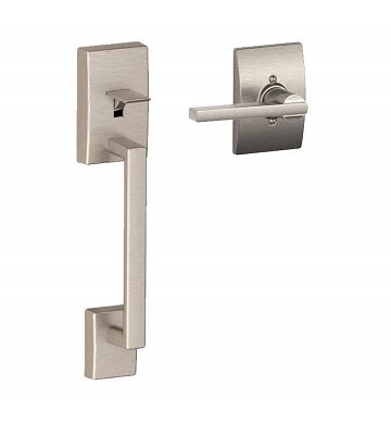 FE Series Century Lower Half Handleset with Latitude Lever and Century Rosette by Schlage