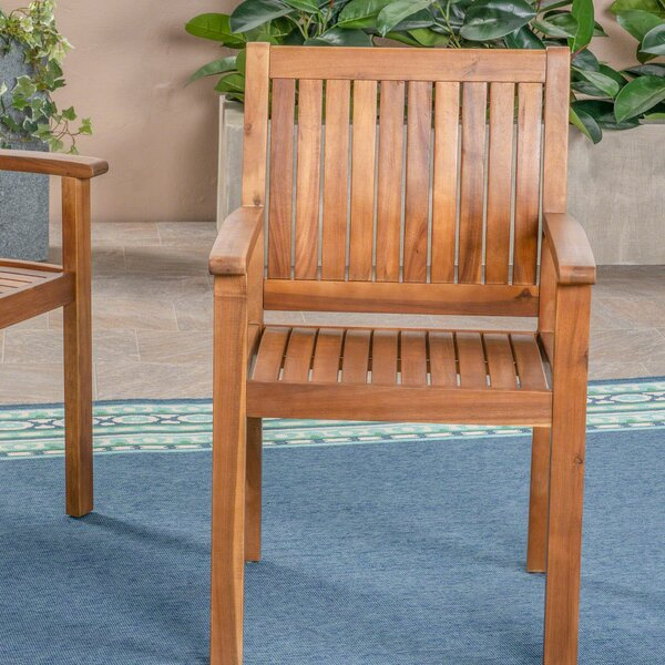 Bangor Outdoor Patio Dining Chair (Set of 2) by Millwood Pines Millwood Pines