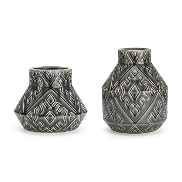 Fort Washington Classic Beauty 2 Piece Table Vase Set by Bungalow Rose