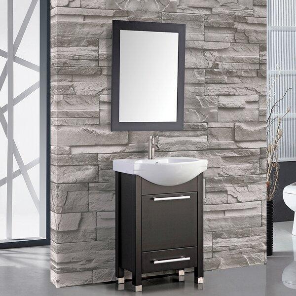 Peru 24 Single Sink Bathroom Vanity Set with Mirror by MTD Vanities