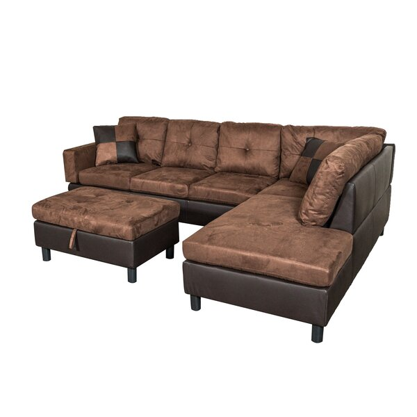 Damico Sectional with Ottoman by Winston Porter