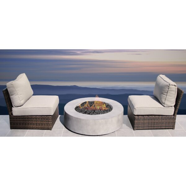 Crofoot 3 Piece Seating Group with Cushions by Orren Ellis
