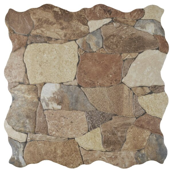 Atticas Random Sized Ceramic Splitface Tile in Caldera by EliteTile