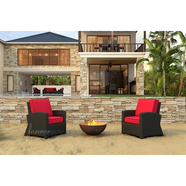 Barbados Deep Seating Chair with Cushions (Set of 2) by Forever Patio