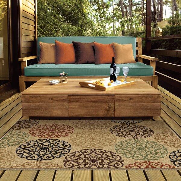 Bradley Bisque Catalina Beige Indoor/Outdoor Area Rug by Threadbind