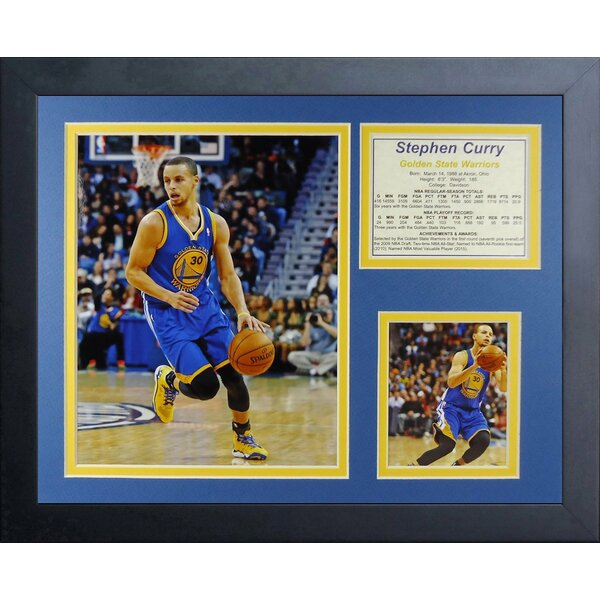 Steph Curry - Golden State Warriors Framed Memorabilia by Legends Never Die
