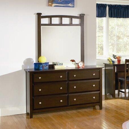Harrington 6 Drawer Dresser with Mirror by Wildon Home ®