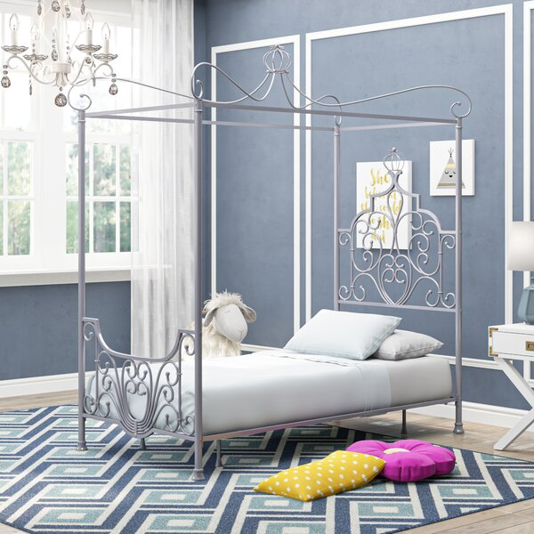 Lancashire Twin Canopy Bed by Harriet Bee