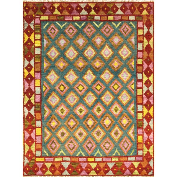 Anatolian Hand-Knotted Rust Area Rug by Pasargad