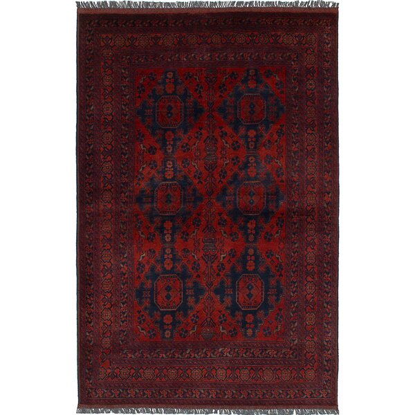 One-of-a-Kind Bouldercombe Traditional Hand-Knotted Red Area Rug by World Menagerie
