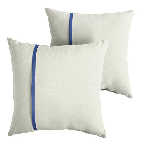 Fleishman Indoor/Outdoor Sunbrella Throw Pillow (Set of 2) by Charlton Home