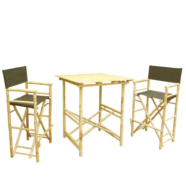Phat Tommy 3 Piece Bar Height Dining Set by Buyers Choice