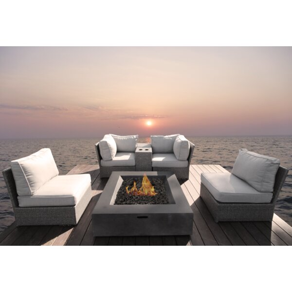 Almyra 6 Piece Rattan Sectional Seating Group with Cushions by Sol 72 Outdoor