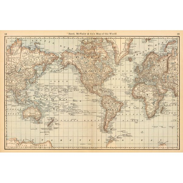 Map of The World Wall Mural by Swag Paper
