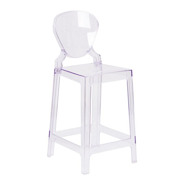 Marleigh Counter 25 Patio Bar Stool with Tear Back by Orren Ellis