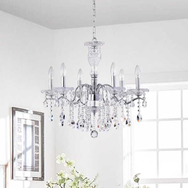 Tilbury 6 - Light Candle Style Classic / Traditional Chandelier by House of Hampton House of Hampton