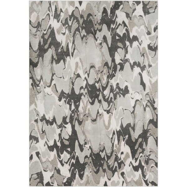 Redelong Abstract Camel/White Area Rug by Orren Ellis