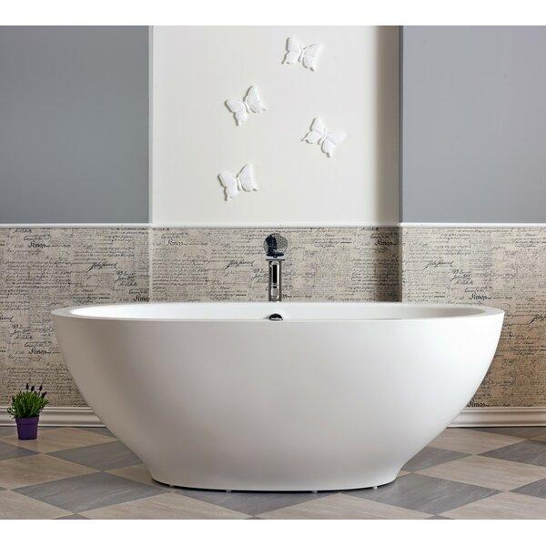 Karolina 70.75 x 35.5 Air Bathtub by Aquatica