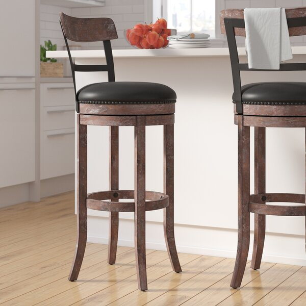 Carondelet 34 Swivel Tall Bar Stool by Darby Home Co