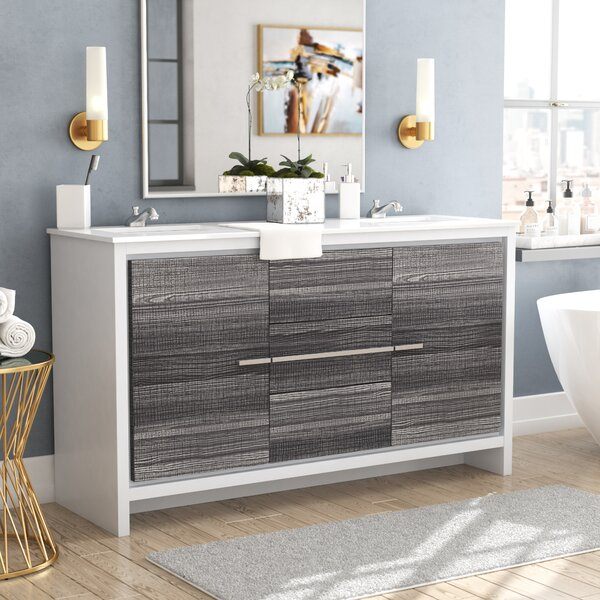 Bosley 59 Double Bathroom Vanity Set by Mercury Row