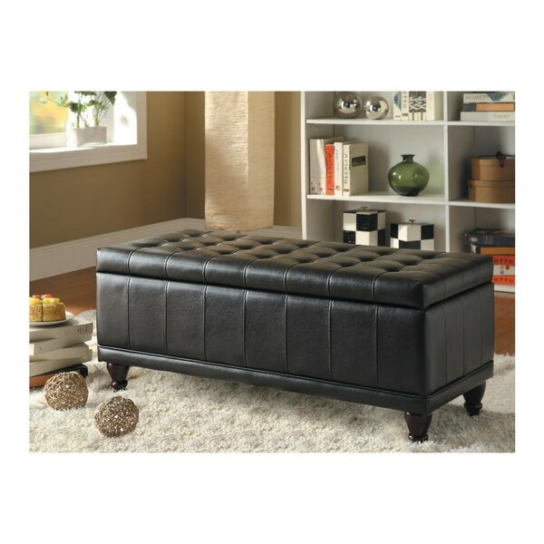 Lila Faux Leather Storage Bench by Alcott Hill