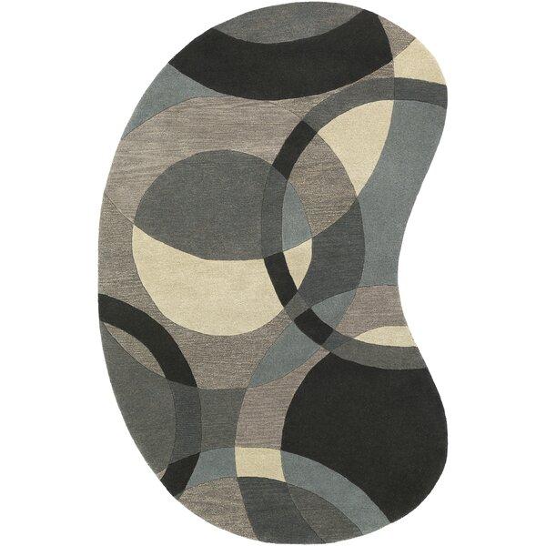 Dewald Hand-Tufted Neutral/Blue Area Rug by Ebern Designs