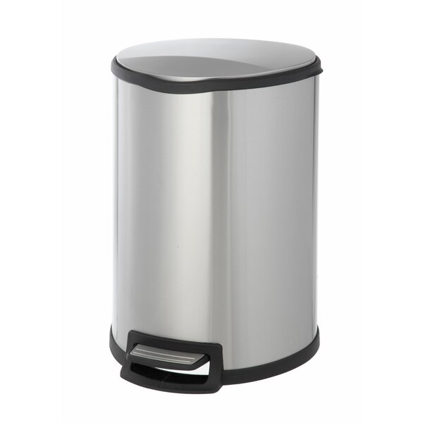 Stainless Steel 11.88 Gallon Step On Trash Can by HomeZone