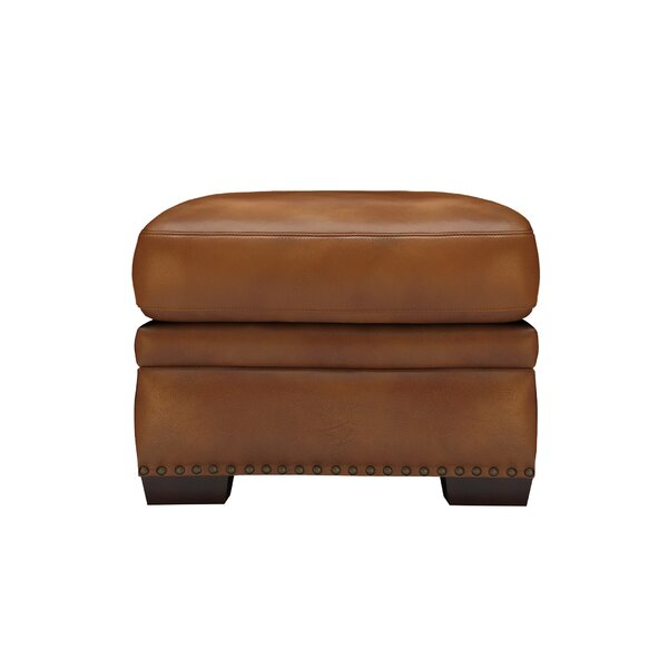 Londyn Leather Ottoman By Millwood Pines