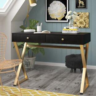 Compare prices Dayne Campaign Rectangular Desk By Willa Arlo Interiors