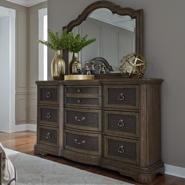 Wyndell 9 Drawer Dresser with Mirror by Williston Forge