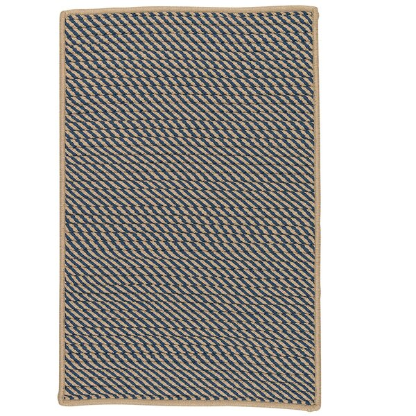 Mammari Striped Hand-Woven Blue Indoor/Outdoor Area Rug by Bay Isle Home