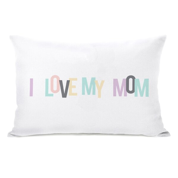 I love My Mom Hearts Lumbar Pillow by One Bella Casa