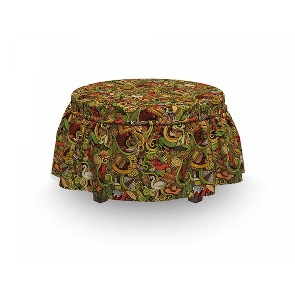 Doodle Culture Ottoman Slipcover (Set Of 2) By East Urban Home