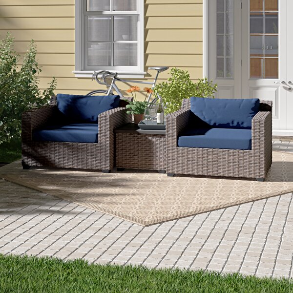 Merlyn 3 Piece Seating Group with Cushions Sol 72 Outdoor W001081012