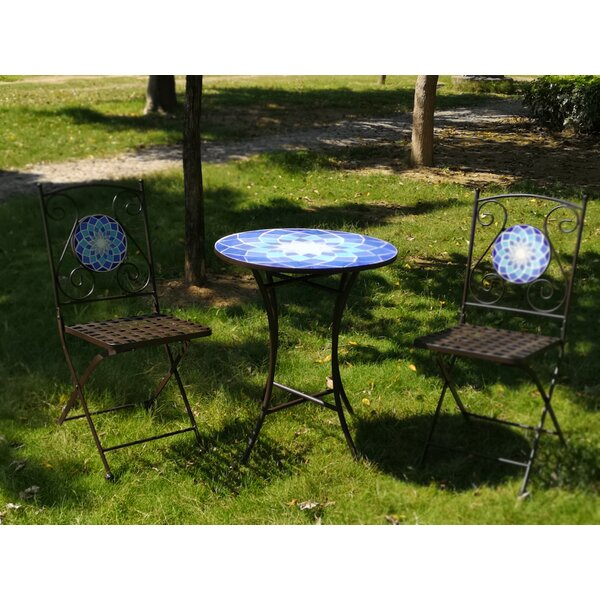 Vernell 3 Piece Bistro Set by Bloomsbury Market