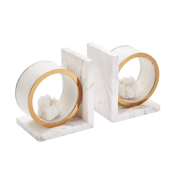 Marble Bookends (Set of 2) by Everly Quinn