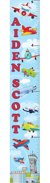Planes Personalized Growth Chart by Mona Melisa Designs