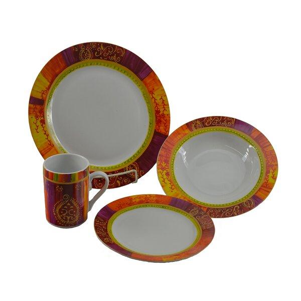 Autumn Breeze 16 Piece Dinnerware Set, Service for 4 by Three Star Im/Ex Inc.