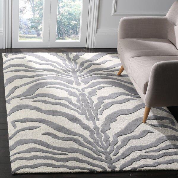 Roloff Ivory & Dark Gray Area Rug by Mercer41