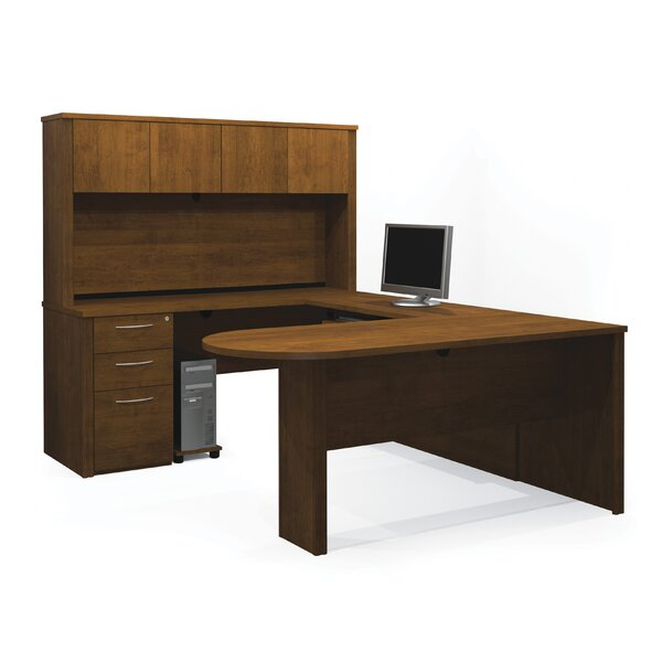 Karyn U-Shape Executive Desk with Hutch by Latitude Run