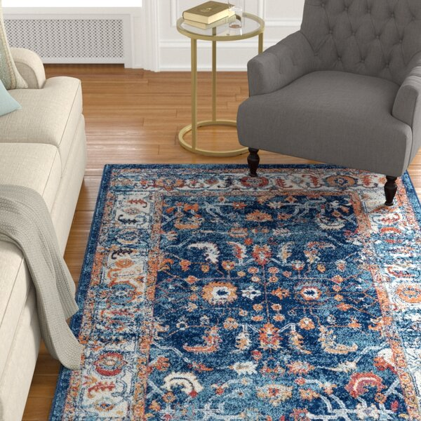 Honig Navy Area Rug by Charlton Home