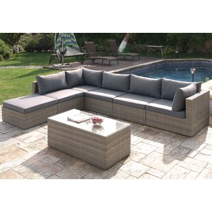 7 Piece Sectional Set with Cushions By A&J Homes Studio