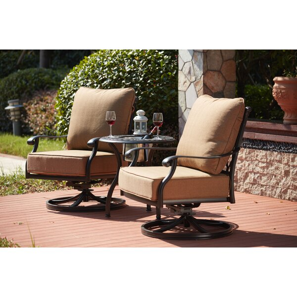 Waconia Rocker Swivel Recliner Patio Chair with Cushions (Set of 2) by Darby Home Co