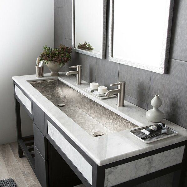Trough Metal 48 Trough Bathroom Sink by Native Tra