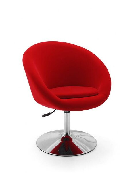 Helmuth Swivel Barrel Chair by Orren Ellis