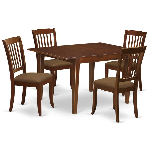Keansburg 5 Piece Extendable Solid Wood Dining Set by Winston Porter Winston Porter