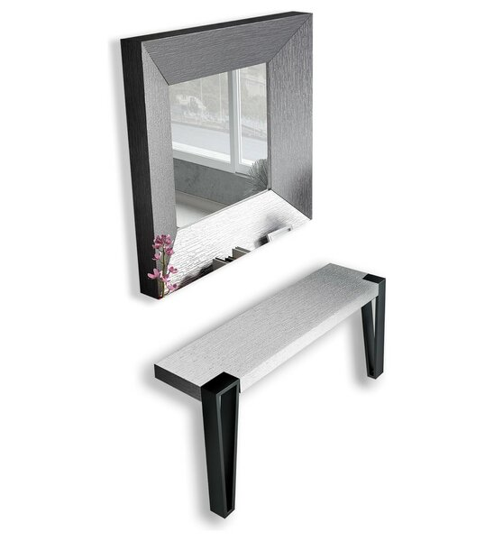Patio Furniture Jeramiah Console Table And Mirror Set