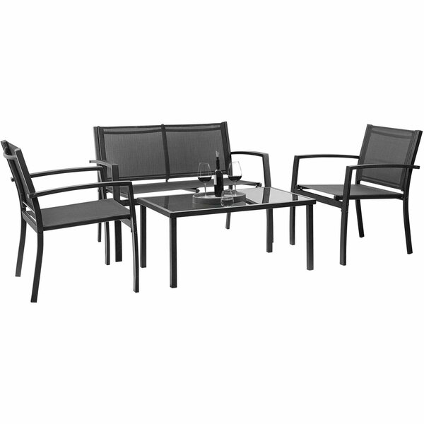 Onika Outdoor 4 Piece Sofa Seating Group by Ivy Bronx