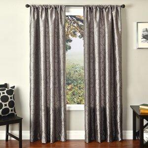 Nadine Window Solid Abstract Room Darkening Rod Pocket Single Curtain Panel