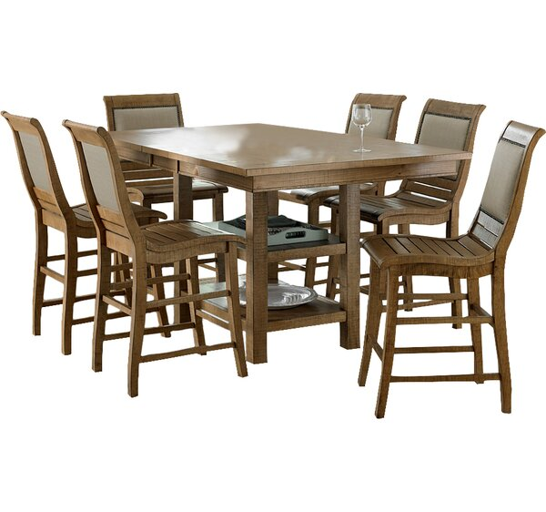Castagnier 7 Piece Extendable Dining Set by Lark Manor